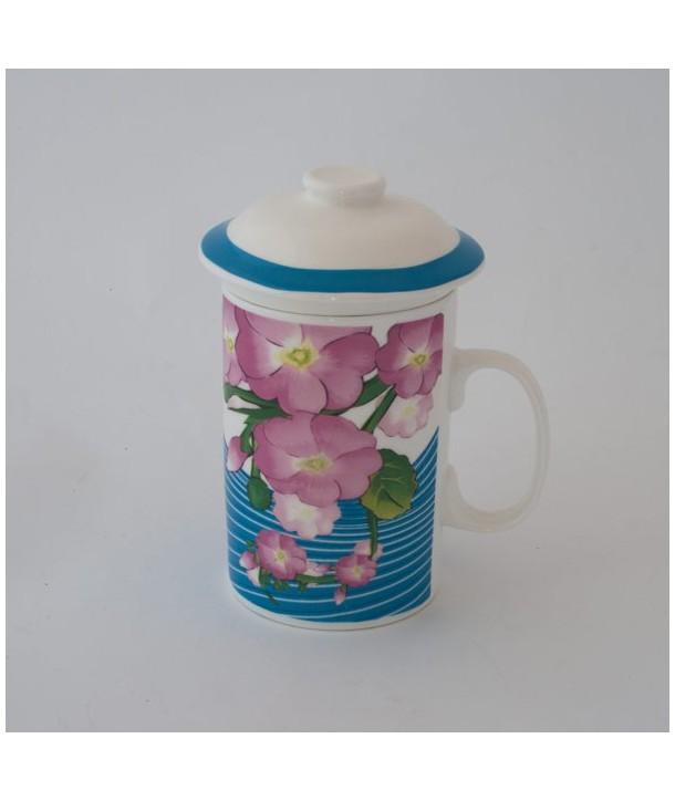 Kubek z zaparzaczem | kwiaty