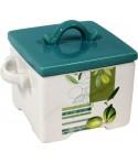 Kwadratowy pojemnik ceramiczny oliwka