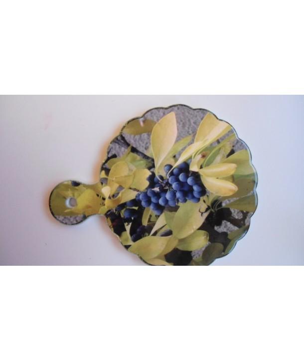 Ceramiczna podstawka pod garnek, deska do krojenia, dekor na ścinę