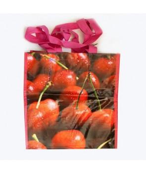 Duża ekologiczna torba na zakupy motyw owocei