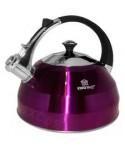 Fioletowy czajnik z gwizdkiem z filtrem KINGHoff