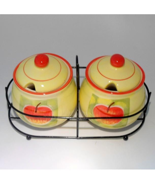 Pojemnik na przyprawy jesienne jabłka