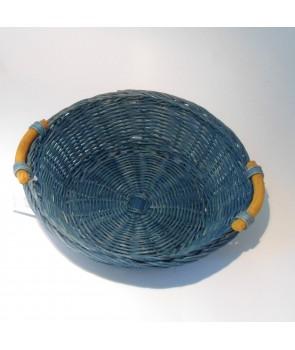 Koszyk okrągły na chleb niebieski