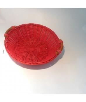 Koszyk okrągły na chleb czerwony