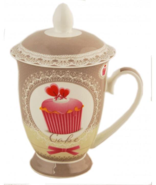 Porcelanowy kubek z zaparzaczem Muffinka