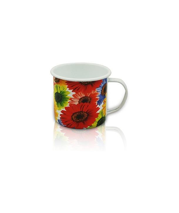 Garnek, rądel, kubek w kwiaty 0,5 litra
