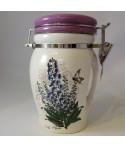 Pojemnik ceramiczny Błekitne Kwiaty mąka, kawa, cukier 660 ml