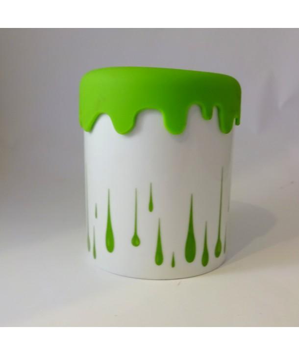 Pojemnik ceramiczny zielone łzy silikon
