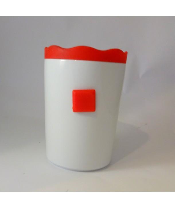Pojemnik ceramiczny Czerwony Zamek silikon