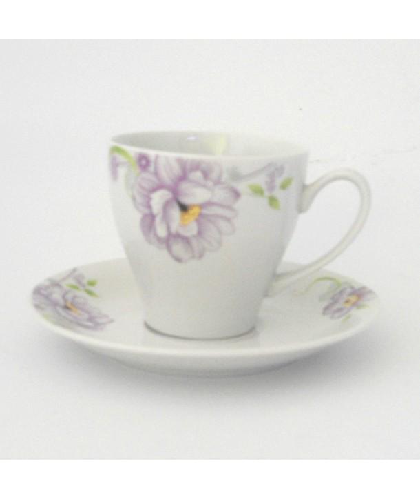 Filiżanki fioletowe kwiaty 2 szt