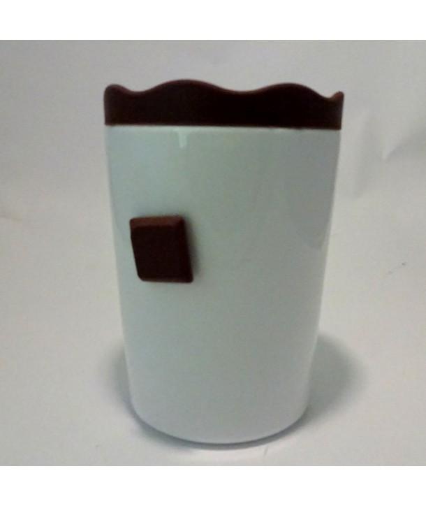 Pojemnik ceramiczny Brązowy Zamek silikon