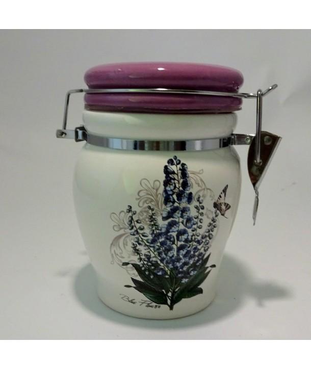 Pojemnik ceramiczny Błękitne Kwiaty 500ml