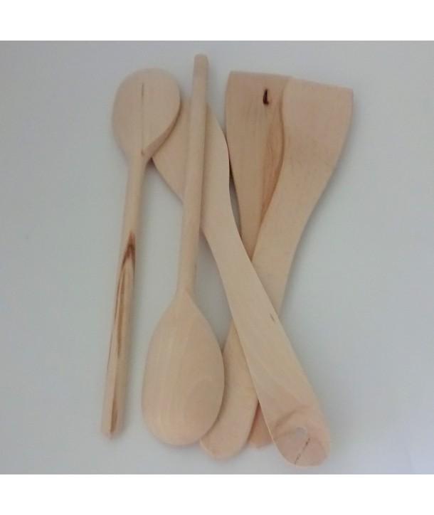 Drewniane przybory kuchenne