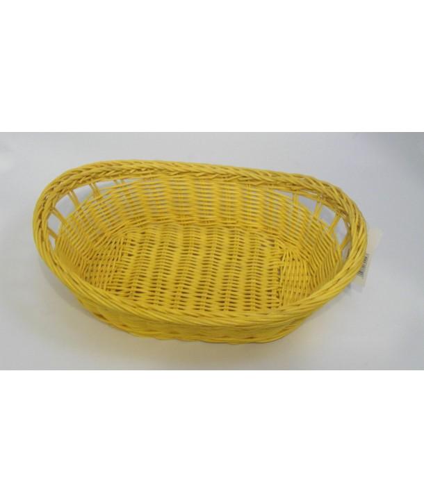Koszyk owalny na chleb żołty