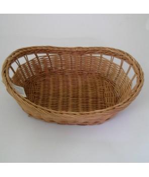 Koszyk owalny na chleb naturalny jasny