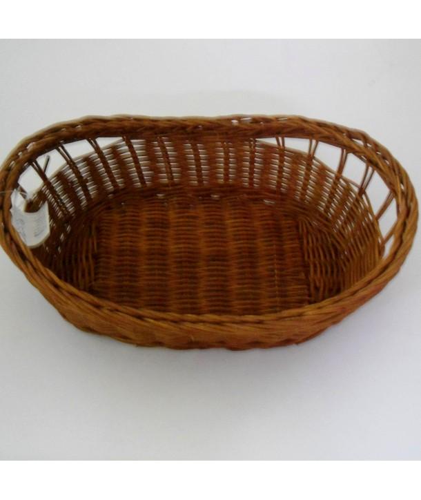 Koszyk owalny na chleb naturalny ciemny