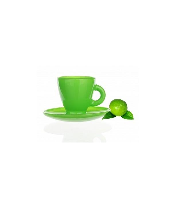 Zielona Filiżanka do espresso ze spodeczkiem