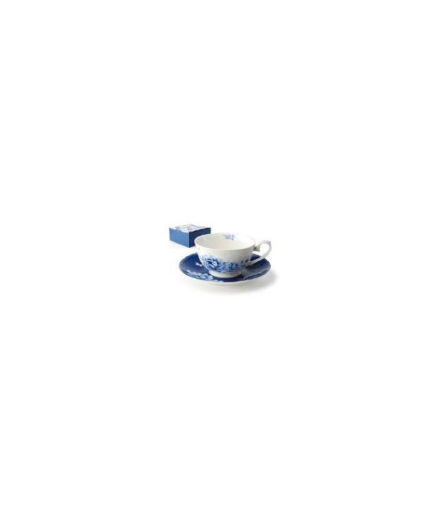 Filiżanka i spodek -Błękitne kwiaty