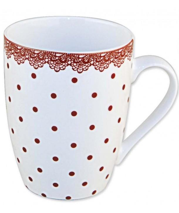 Kubeczki w kropeczki Kubek w kolorowe wzory z wysokiej jakości porcelany NEW BONE CHINA. Mix 2 wzorów.