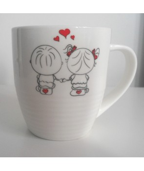 kubek zakochane pieski - zakochani