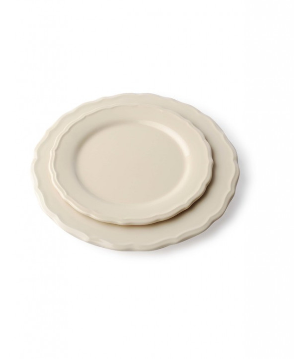 Talerz deserowy 21 cm krem