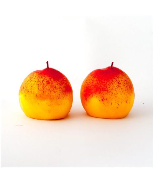 Świeczki zapachowe w kształcie owoców, truskawka, cytryna, brzoskwinia